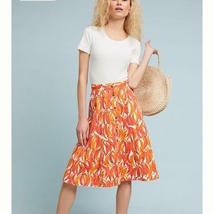 NEW! Anthropologie Banana Grove Midi Skirt